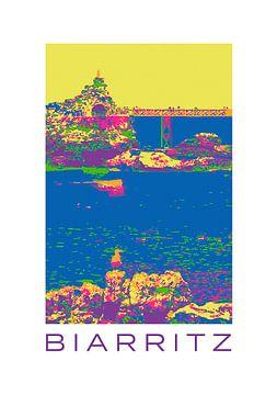 Biarritz - Popart von Birgit Wagner
