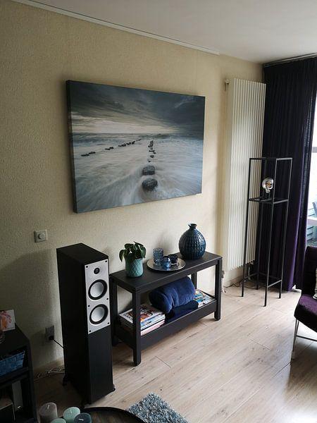 Klantfoto: breaking waves van Arjan Keers, op canvas
