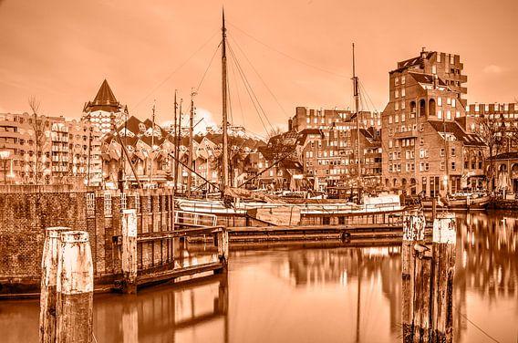 Rotterdam Oude Haven - monochroom