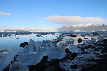 Ijsmeer in Ijsland van Kevin Kardux