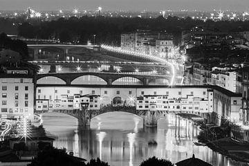 De Ponte Vecchio Brug, Florence, Italië van Henk Meijer Photography