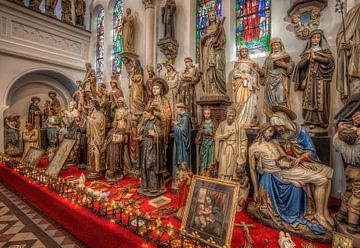 Heiligenbeelden in Museum Vaals