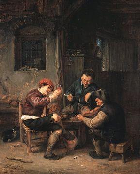 Drei Bauern in einem Gasthof, Adriaen van Ostade