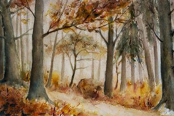 de herfst bos van