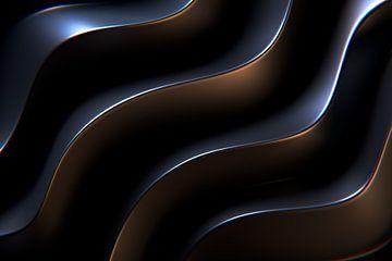 Metalen golven in liggend formaat van Jörg Hausmann