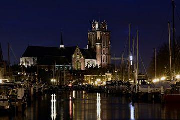 Dordrecht Grotekerk Nieuwehaven-Knolhaven tijdens het blauweuurtje von Wim Brand
