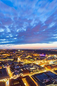 Leipzig in Sachsen bei Nacht von Werner Dieterich