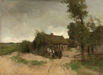 Huisje aan de zandweg, Anton Mauve sur