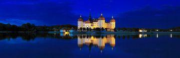 Le château de Moritzburg à l'heure bleue
