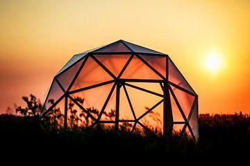 Geodome in zonsondergang von Wybrich Warns