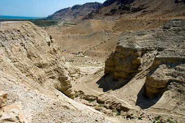De ruïnes van Qumran of Kirbet Qumran