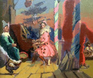 Walter Sickert, ik pierrot in Brighton - 1915 van Atelier Liesjes