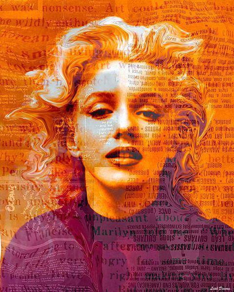 Marilyn Monroe Pop Art Canvas van Leah Devora