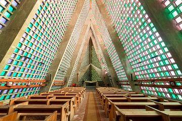 Futuristische Verlaten Kerk.