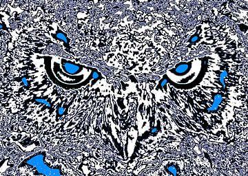 Owl's face #3 van Leopold Brix