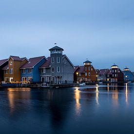 Reitdiep haven at blue hour! van Robert Kok