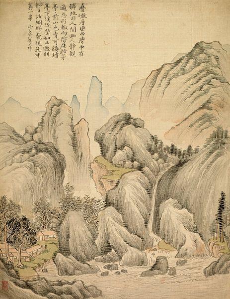 Tsubaki Chinzan. Gevouwen heuvels en gelaagde toppen van 1000 Schilderijen