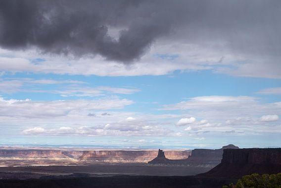 Storm boven Canyonlands in Utah
