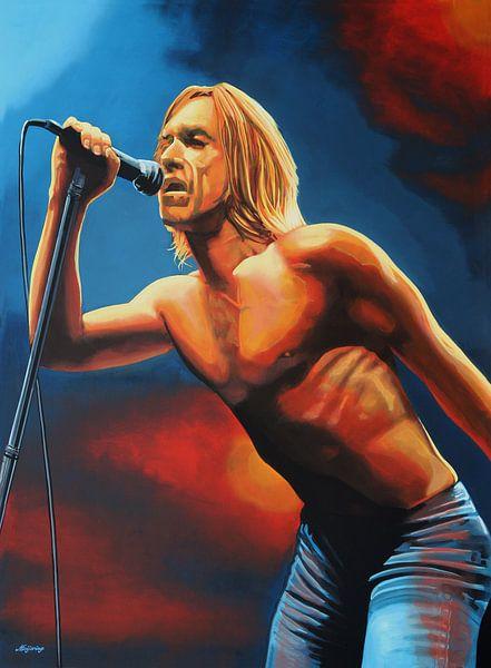 Iggy Pop Painting von Paul Meijering