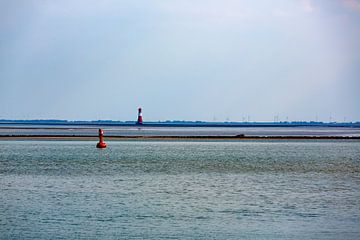 Leuchtturm Arngast im Jadebusen bei Wilhelmshaven von Rolf Pötsch