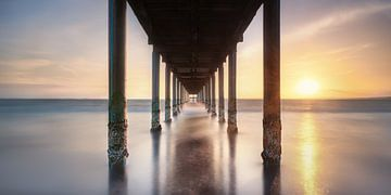 Sonnenuntergang an der Ostsee mit Seebrücke von Fine Art Fotografie
