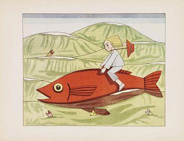 Peregrin und der Goldfisch, Tom Seidmann-Freud, 1929 von Atelier Liesjes