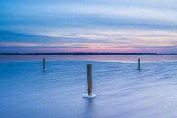 Zonsondergang op een koude middag van Wilko Visscher