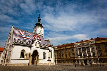 Sint Marcuskerk in Zagreb sur Jesse Meijers