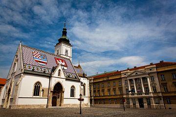 Saint Marcus church in Zagreb sur Jesse Meijers