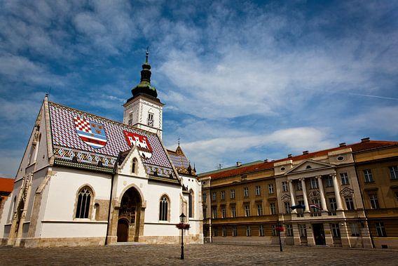 Sint Marcuskerk in Zagreb van Jesse Meijers
