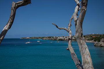 Uitzicht over kustlijn Curacao van Gertjan Hesselink