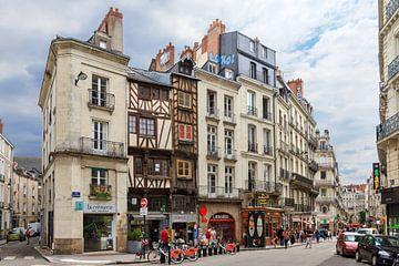 Stadsgezicht Nantes in de zomer van