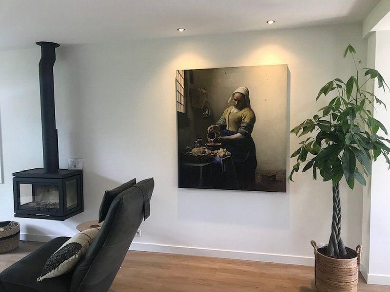 Klantfoto: Het Melkmeisje - Vermeer Schilderij (HQ)