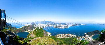 Panorama van Copacabana, Botafogo en Rio Centro van Martijn Mureau