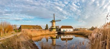 Die kombinierte Wind- und Wasserradmühle, De Kilsdonkse Molen, Veghel, Noord-Brabant, Niederlande, von Rene van der Meer
