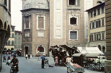 Italienische Straßenszene 50er Jahre von Jaap Ros