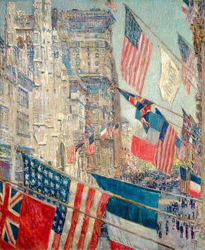 Childe Hassam, Tag der Alliierten, 1917 von Atelier Liesjes