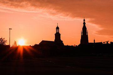 Skyline van Breda tijdens de ondergaande zon van Deborah S