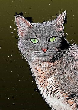 Katze Tiere Kunst #Katze #Katzen #Kätzchen von JBJart Justyna Jaszke