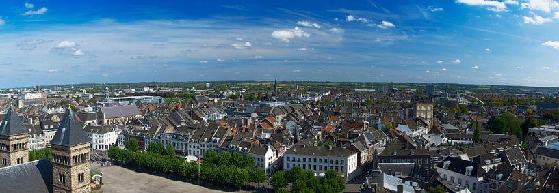 Panorama de Maastricht depuis le Vrijthof sur Roger VDB
