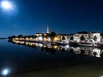 Kampen by night Maanlicht. sur Frank Slaghuis