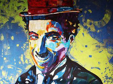 Charlie Chaplin Glimlach van Kathleen Artist Fine Art