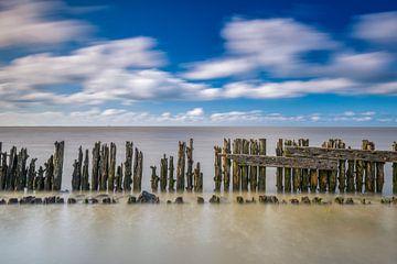 Golfbreker in de Waddenzee van Jenco van Zalk