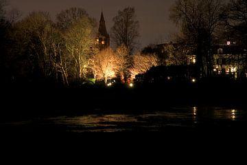 Kerk bij nacht  van Fleksheks Fotografie