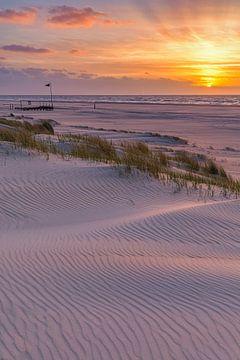 Zonsondergang op Vlieland van Henk Meijer Photography