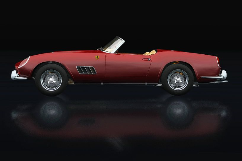 Ferrari 250 GT Spyder California 1960 Zijaanzicht van Jan Keteleer
