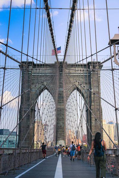 Brooklyn Bridge Manhattan New York city van Martin Albers Photography