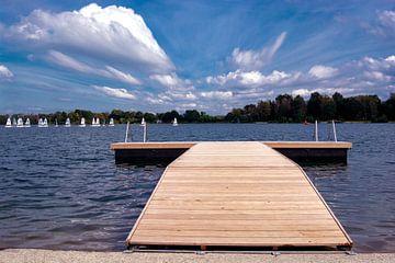 De houten pier van Michael Nägele