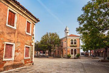Historische Gebäude auf der Insel Murano bei Venedig in Italien von Rico Ködder