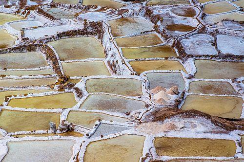 Zoutpannen bij Maras in de heilige vallei, Peru